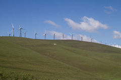 Wind Mill Farms in Northern California stock photo