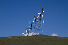 Wind Mill Farms in Northern California stock photos