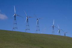 Wind Mill Farms in Northern California Royalty Free Stock Images