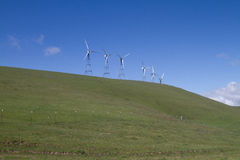 Wind Mill Farms in Northern California Royalty Free Stock Photography