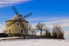 Wind mill in Hana region. An old and historic wind mill used in past century in Hana region near Olomouc and Prostejov stock image