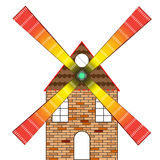 Wind mill house Royalty Free Stock Image