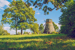 Wind mill in Latvia. Royalty Free Stock Photography