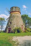 Wind mill in Latvia. Royalty Free Stock Photos