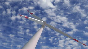 Wind mill low angle zoom time lapse stock video footage