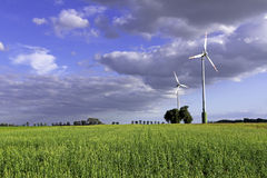 Wind Mill In The Meadow Stock Photography