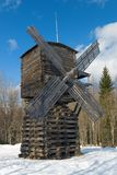 Wind mill of the north country royalty free stock photo