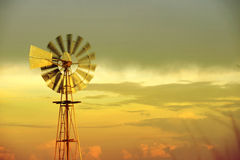 Wind mill old eco friendly sky background Royalty Free Stock Photography