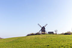 Wind mill of Pudalga baltic coast, Royalty Free Stock Image