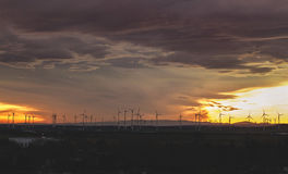 Wind Mill during Sunset Royalty Free Stock Photos