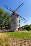 Wind mill. View of a typical wind mill in Montreal Quebec Canada royalty free stock photos