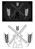 Wind milland wheat Royalty Free Stock Photos