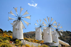 Wind mills stock images