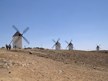 Wind mills. In castilla la mancha, spain Royalty Free Stock Image