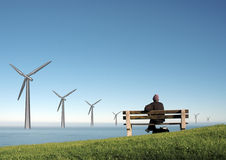 Wind mills Royalty Free Stock Photography