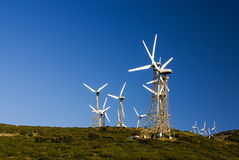 wind mills with blue sky Stock Images