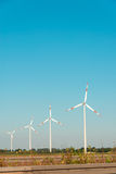 Wind mills during bright Royalty Free Stock Images