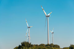 Wind mills during bright Royalty Free Stock Image