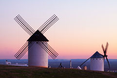 Wind mills at Campo de Criptana Royalty Free Stock Photography