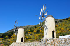 Wind mills in Crete Stock Images