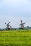 Wind mills in Holland Stock Photos