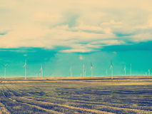Wind Mills Landscape Producing Clean Energy Stockbilder