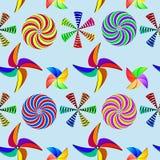Wind mills pattern Stock Image