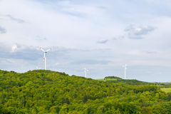 Wind mills producing energy Royalty Free Stock Photo