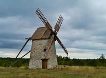 Wind mills of stone Royalty Free Stock Image
