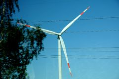 WIND MILLS OR WIND TURBINES PARK Royalty Free Stock Images