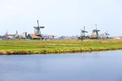 Wind mills in Zaanse Schans Stock Photos