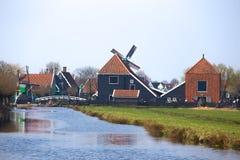 Wind mills in Zaanse Schans Royalty Free Stock Images