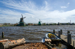 Wind mills in Zaanse Schans Royalty Free Stock Photography
