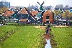 Wind mills in Zaanse Schans Stock Images