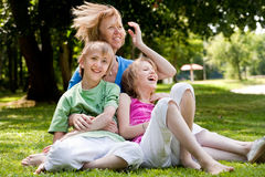 The wind in moms hair stock photos