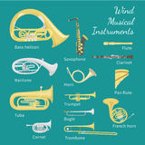 Wind Musical Instruments Stock Photography