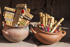 Wind musical instruments Stock Image