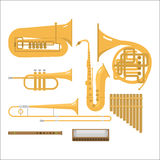 Wind musical instruments vector. Stock Photography