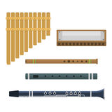 Wind musical instruments vector. Royalty Free Stock Images