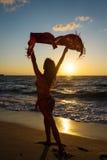 Wind op het strand royalty-vrije stock fotografie