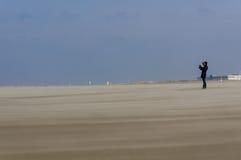 Wind op het strand Royalty-vrije Stock Foto's