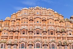 Wind Palace Of Jaipur. Magnificent fusion of Hindu Rajput architecture and Islamic Mughal architecture of famous Jaipur Wind Palace, Rajasthan. India Royalty Free Stock Images