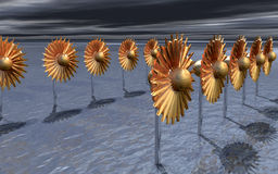 Wind-park futuristico Fotografia Stock Libera da Diritti