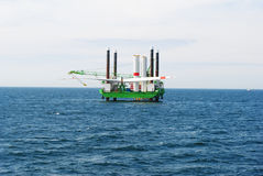 Wind park northern sea, offshore Royalty Free Stock Photography