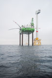 Wind park offshore Stock Photography