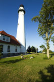 Wind Point Lighthouse stock photography