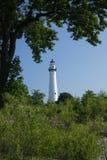 Wind Point Lighthouse. On Lake Michigan near Racine Wisconsin Royalty Free Stock Image