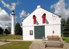 Wind Point Lighthouse. Near Racine, Wisconsin stock photos