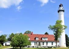 Wind Point Lighthouse. Near Racine, Wisconsin stock image
