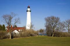 Wind Point Lighthouse - Racine, Wisconsin. USA stock photos